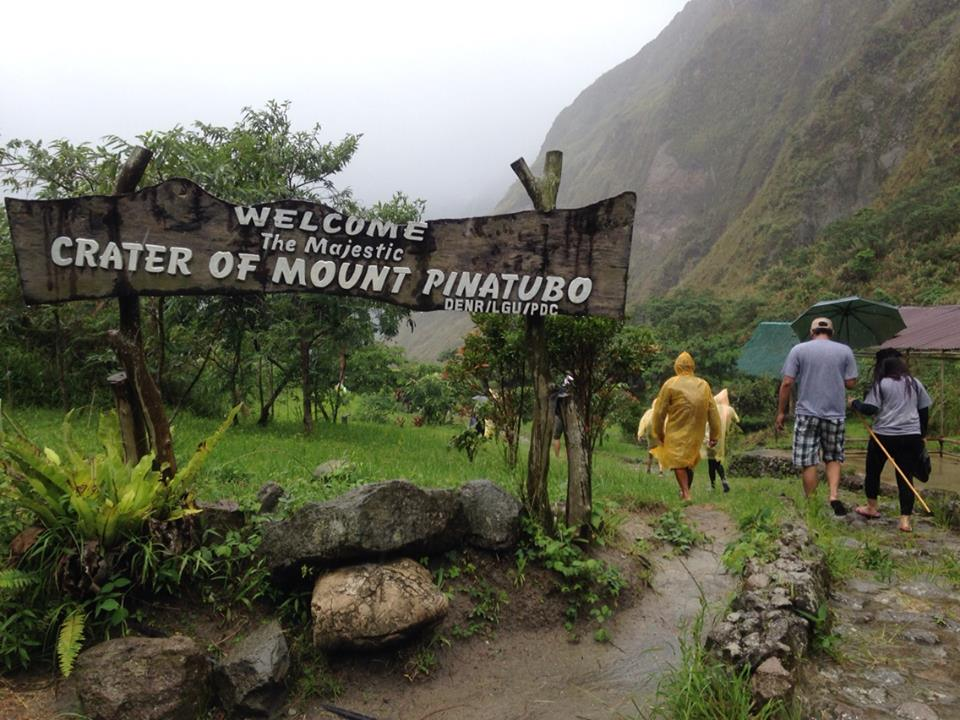 The rain did not stop us from reaching the crater.