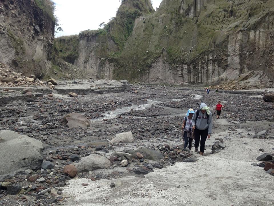 Our trek followed a river that cut through the canyon.
