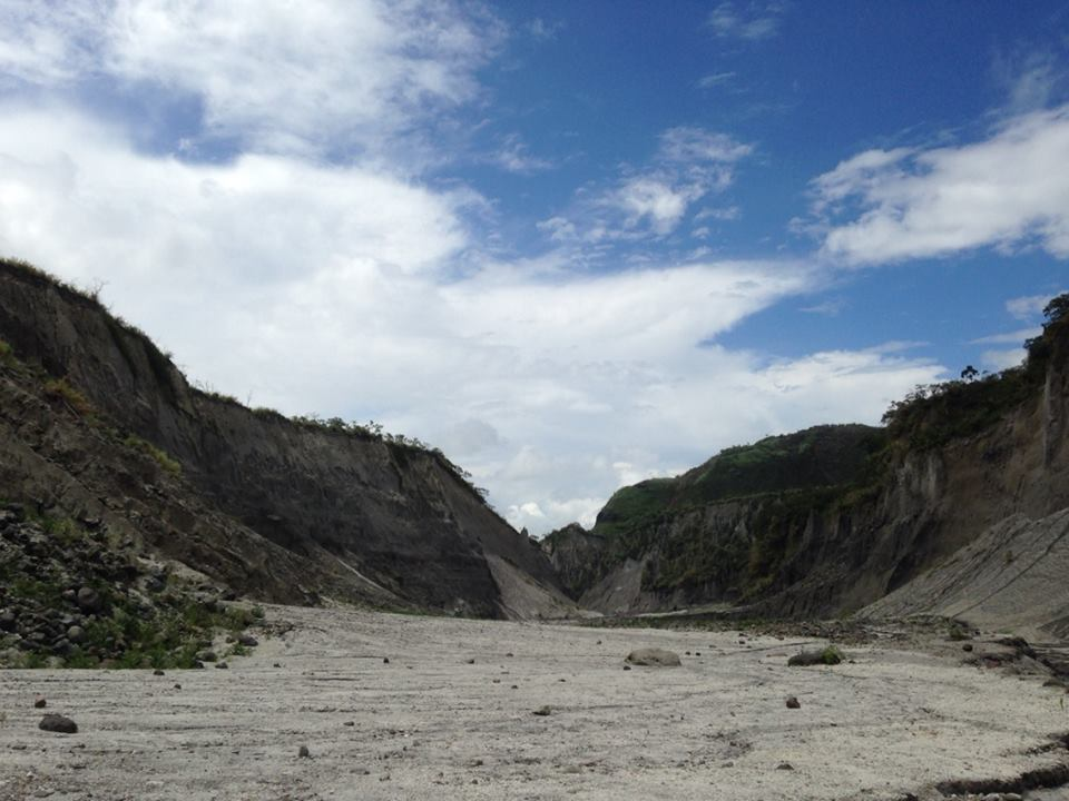 This canyon was carved by the lahar the flowed after the Mount Pinatubo eruption.