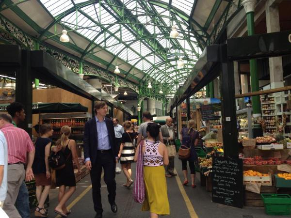 With my sister in Borough Market