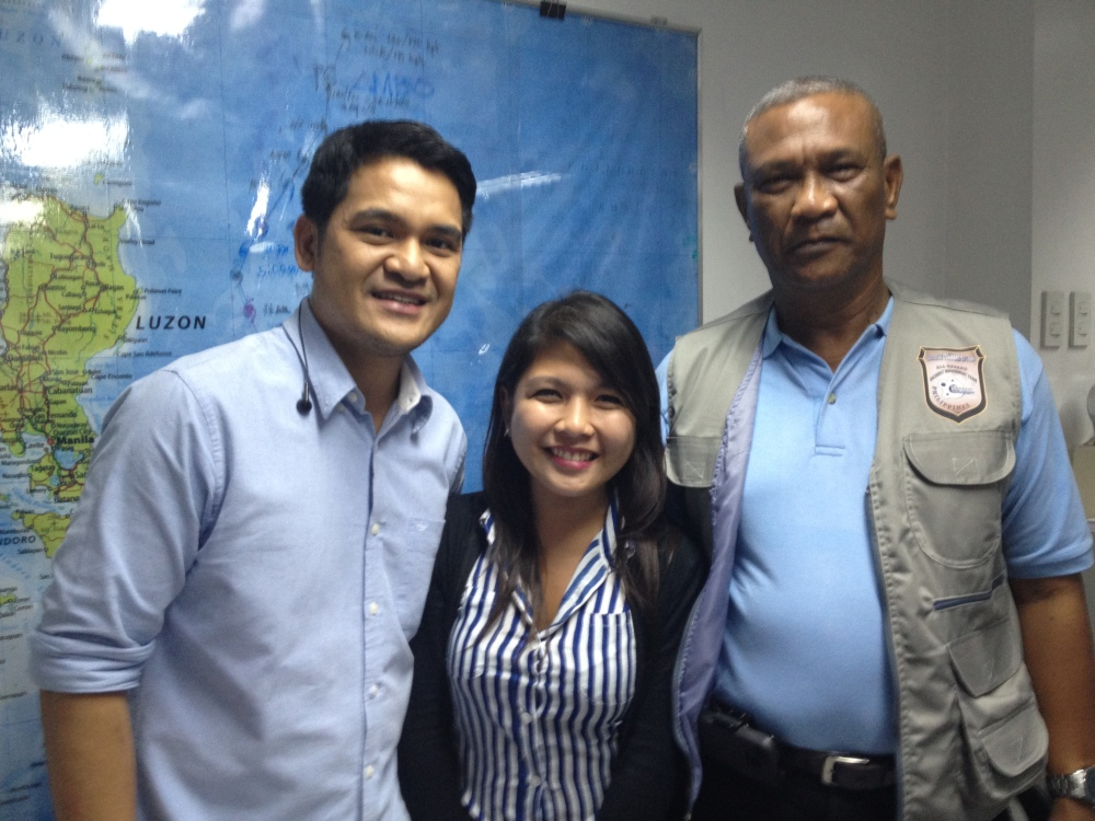 With Jiggy Manicad and former NDRRMC director Benito Ramos