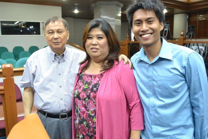 With Sen. Joker Arroyo and Jessica Soho
