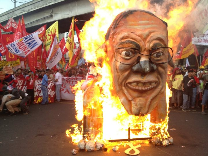 Effigy of President Noynoy Aquino