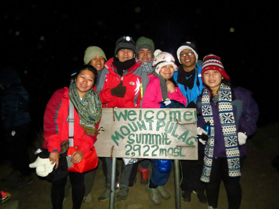 The SubSelfie Team in the Peak of Mt. Pulag