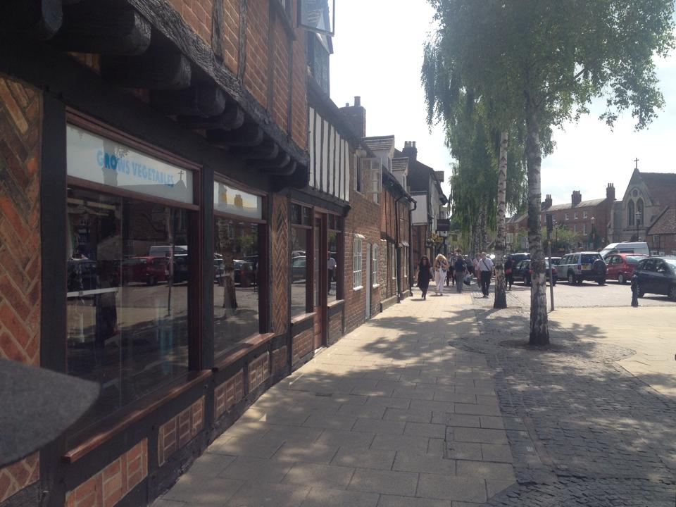 Sidewalks of Stratford-upon-Avon.