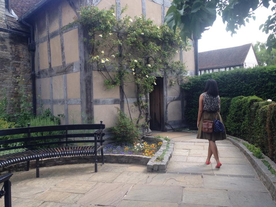 First door to the Shakespeare Estate.