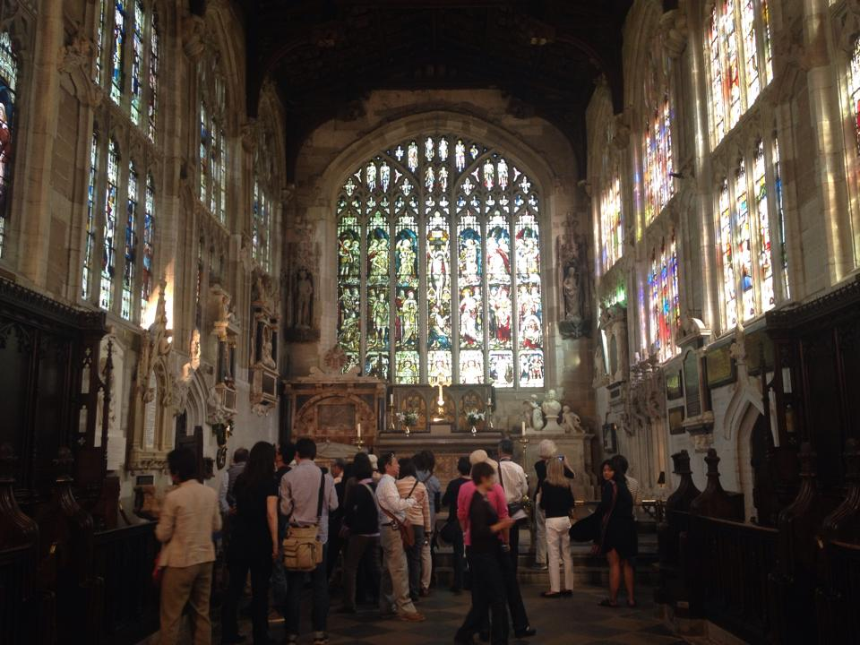 The tomb of Shakespeare is in a chancel inside the Holy Trinity Church in Stratford-upon-Avon.