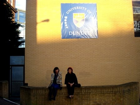 Visiting the University of Dundee where my Sister took up Philosophy and English.