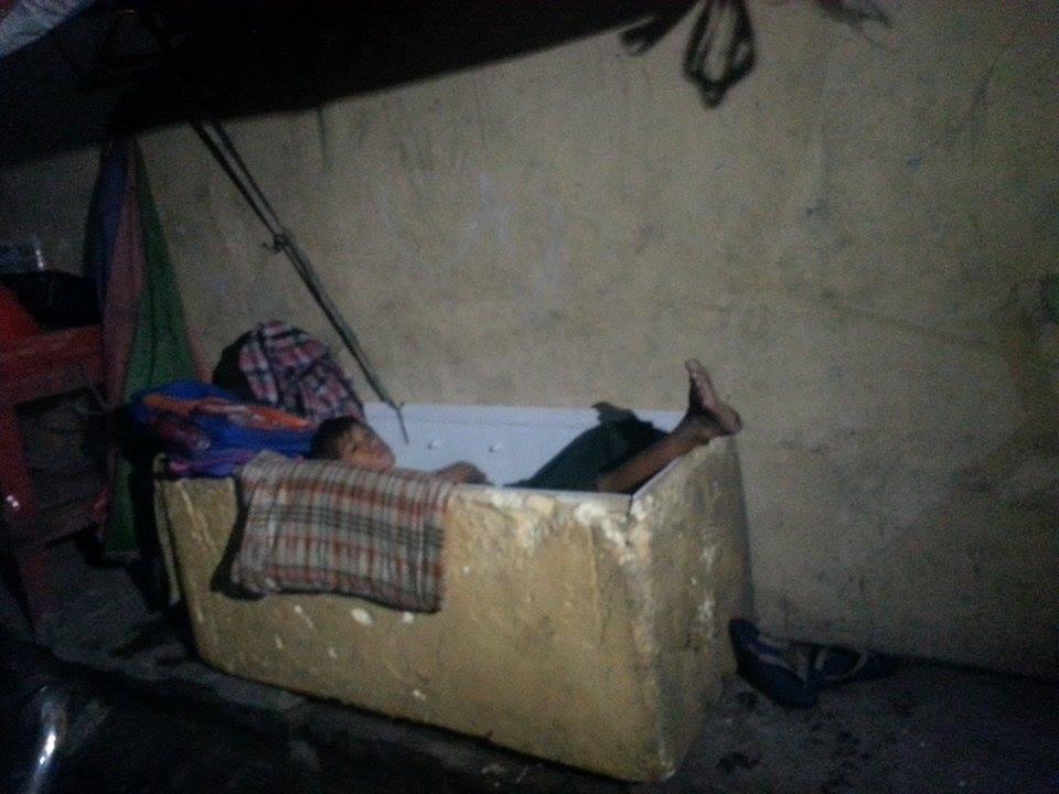 Sleeping in an ice box