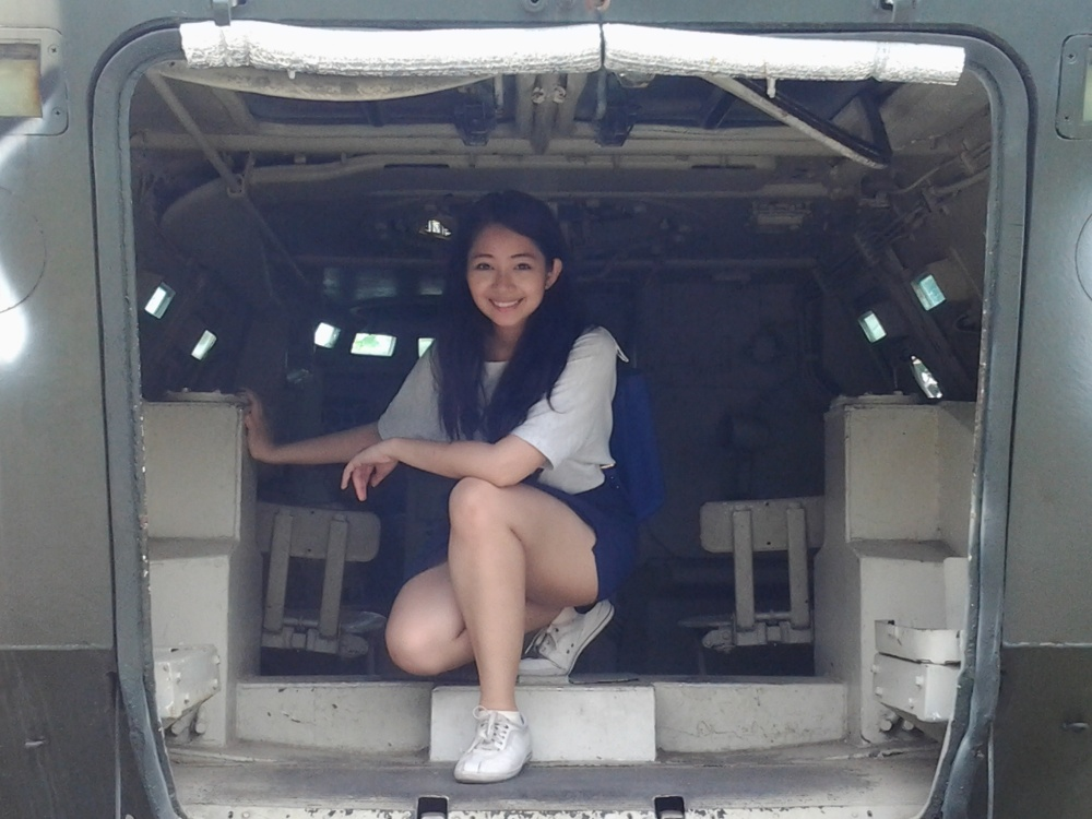Inside a retired amphibious tank