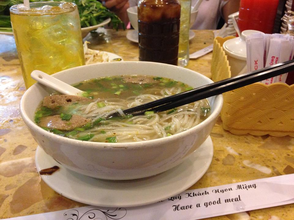 Authentic Vietnamese Pho from a street eatery