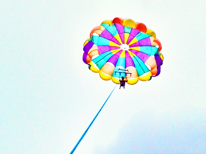 I wish I shared this parasailing experience with a special person.
