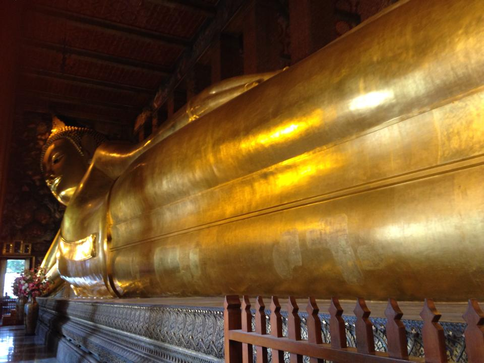 The Reclining Buddha of Wat Pho in Bangkok