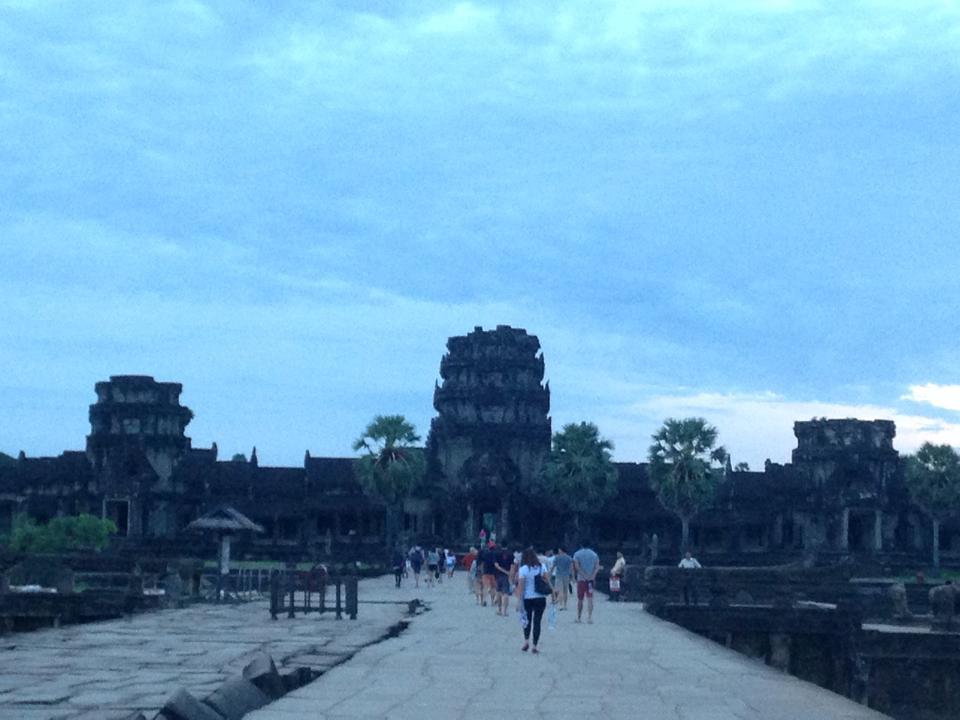 Early morning in Angkor Wat