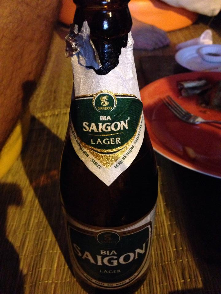 Saigon beer to cap off the night