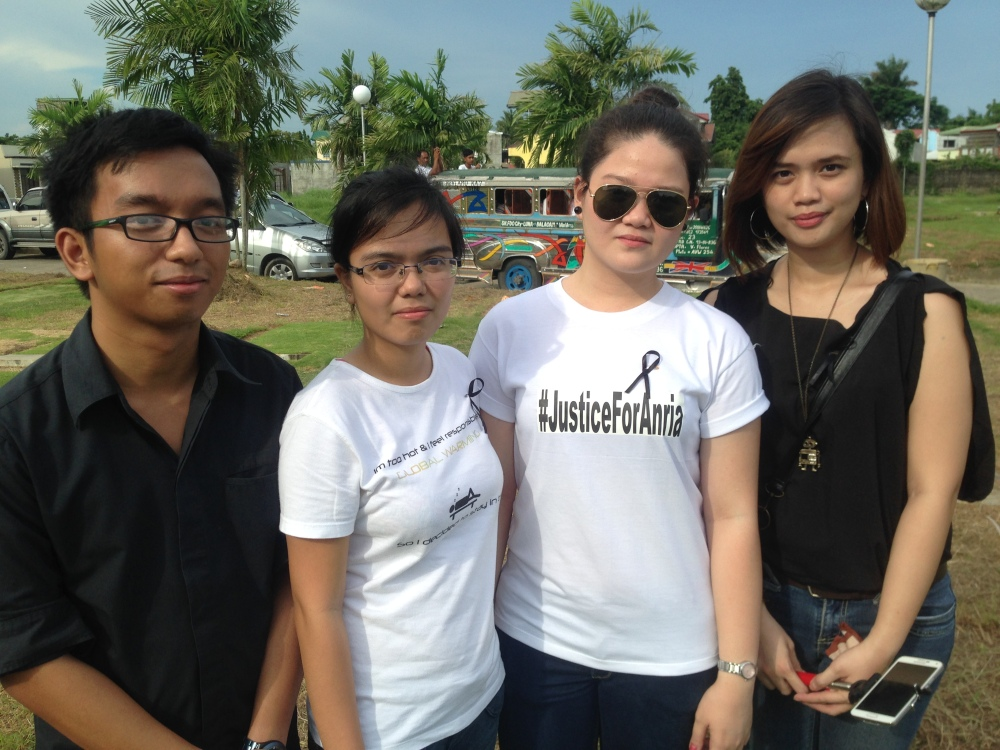 Jervis Manahan with his sister and cousins