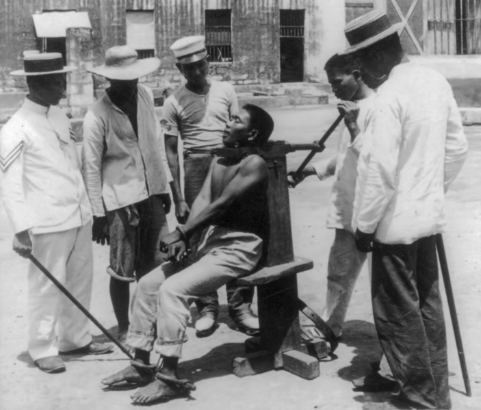 A garrote execution in 1901
