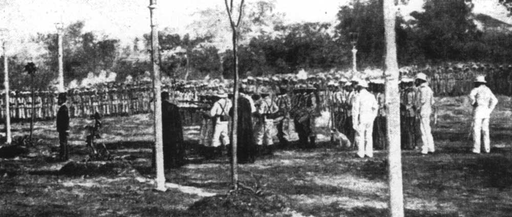 Dr. Jose Rizal's execution in Luneta