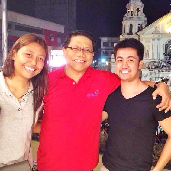 With Mike Enriquez during the Nazareno Feast coverage