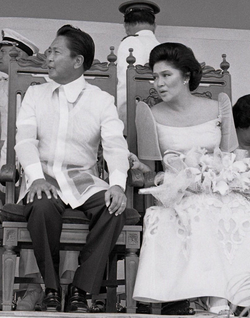 Former President Ferdinand Marcos with First Lady Imelda