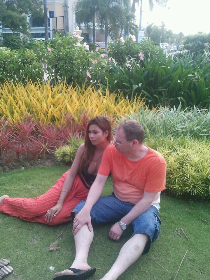 Mark Sueselbeck and her murdered fiance Jennifer Laude, a transgender woman from the Philippines
