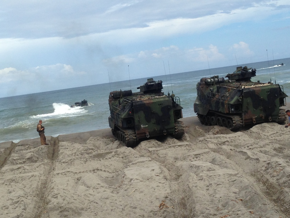 US Navy Amphibious Tanks during the 2014 CARAT Exercises