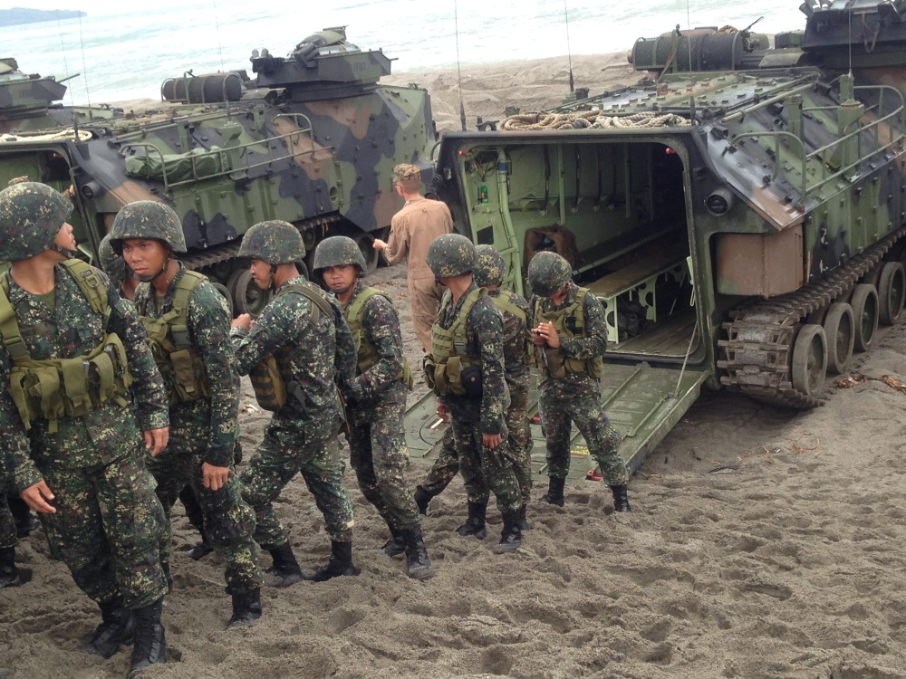 Soldiers in action during the CARAT exercises.