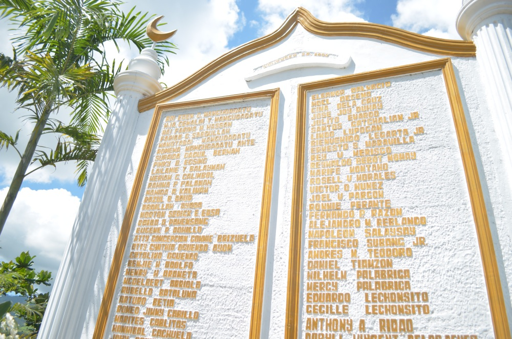 The names of the martyrs