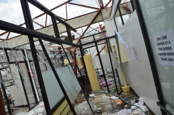 What's left of an ICU in Ormoc, Leyte after the onslaught of super typhoon Haiyan in 2013