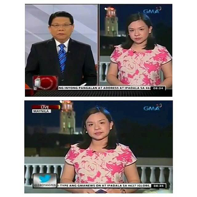 Live report for 24 Oras. Banter with Mike Enriquez