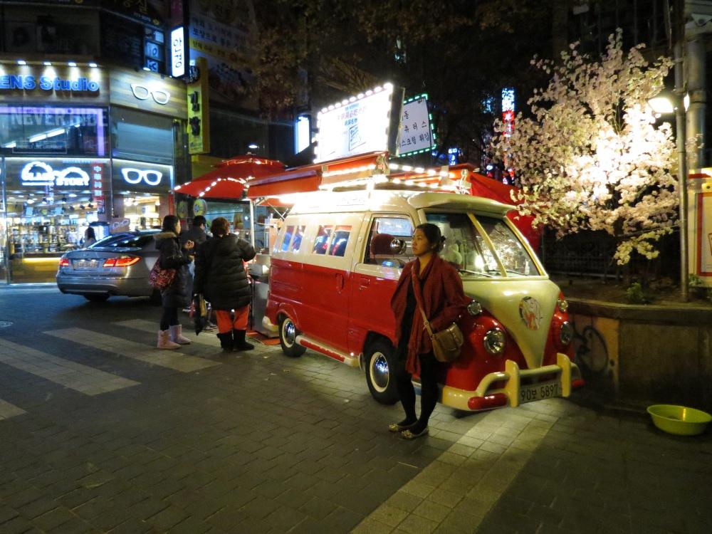 The Myeongdong night market