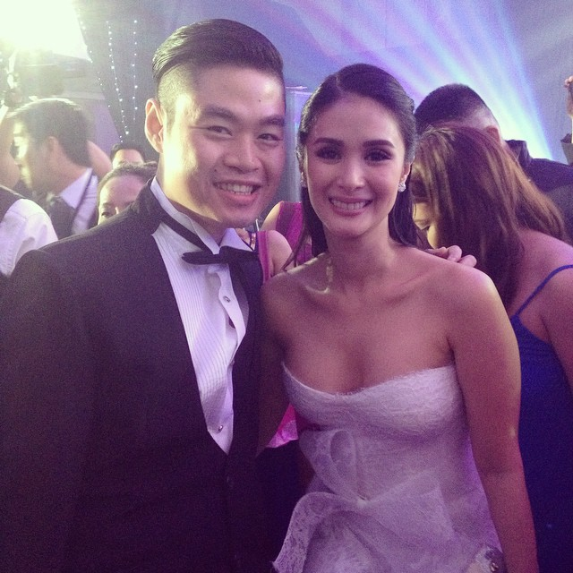 During the wedding of Heart Evangelista