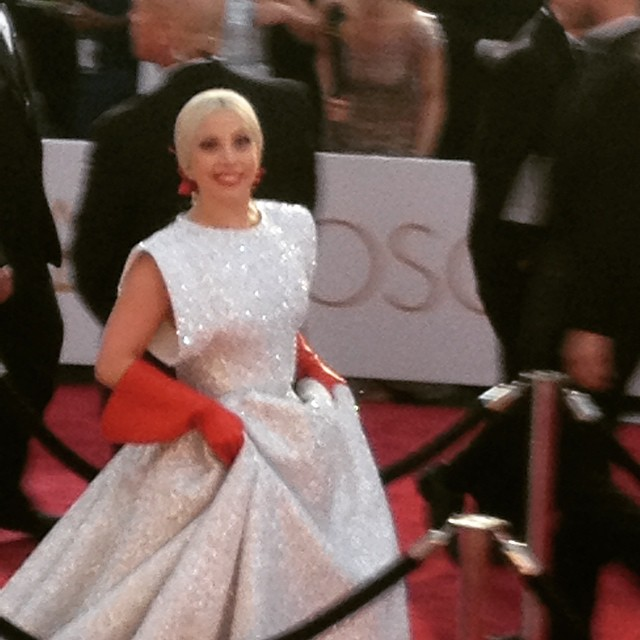 Lady Gaga. She captivated the crowd with her rendition of The Sound of Music by Julie Andrews