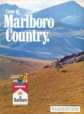 1974 Marlboro Country cigarette ad