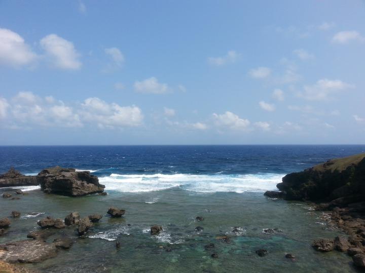 The Pacific Ocean horizon