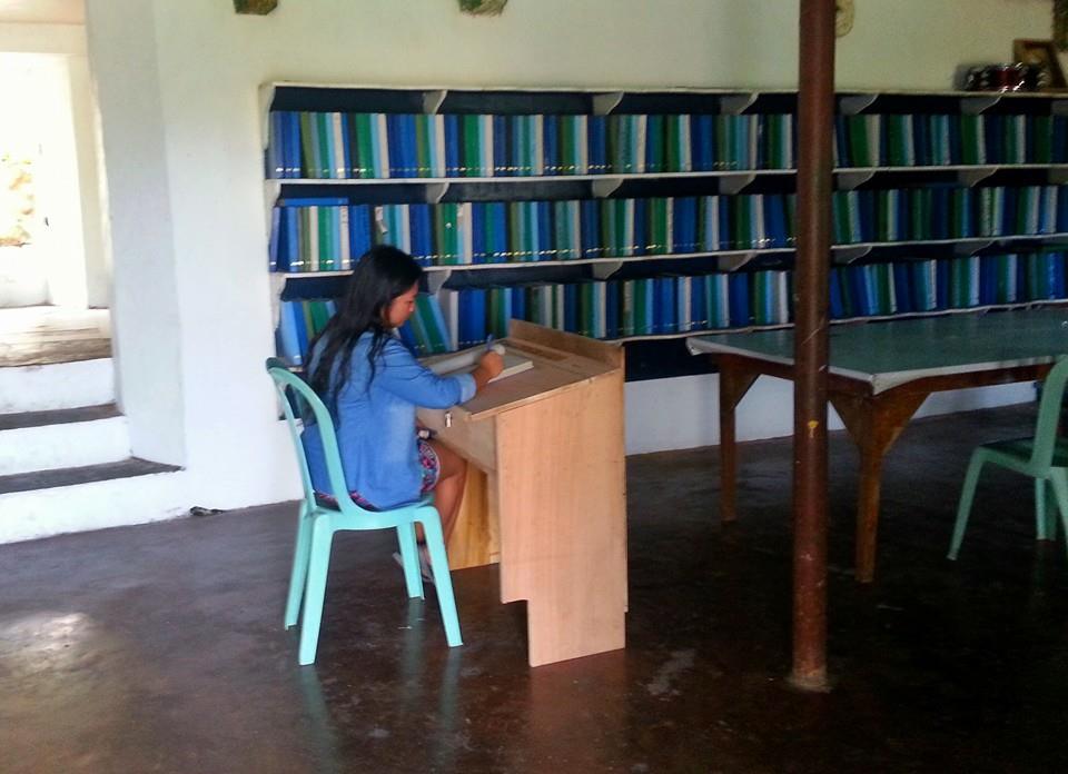 This is the blank book library where you can write notes and letters on blank pages.