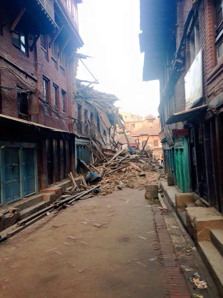 Chaos in Bhaktapur.