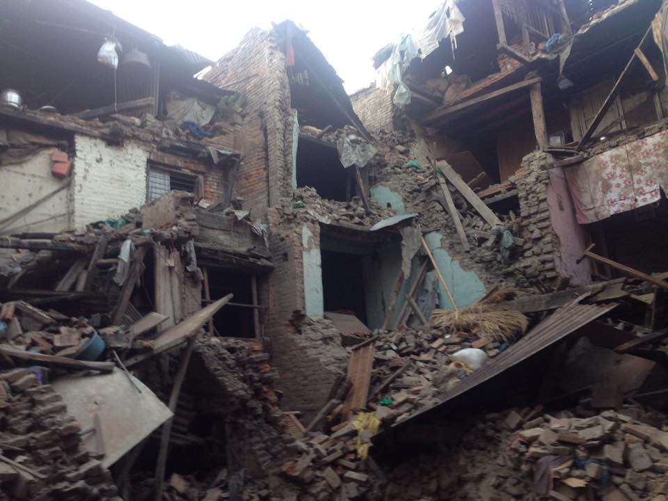 On April 27, Ujjwal posted this photo in Facebook saying a 40-year-old woman is buried in this debris in Bhaktapur but no rescue operation has been conducted yet.