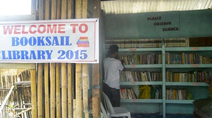 The BookSail Library in Limasawa Island, Southern Leyte.