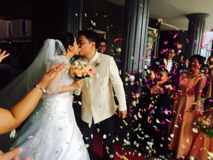 """""""Kapit-kamay sa habambuhay na paglalakbay."""" (Che and Angel's wedding at Philam Homes, Quezon City)"""