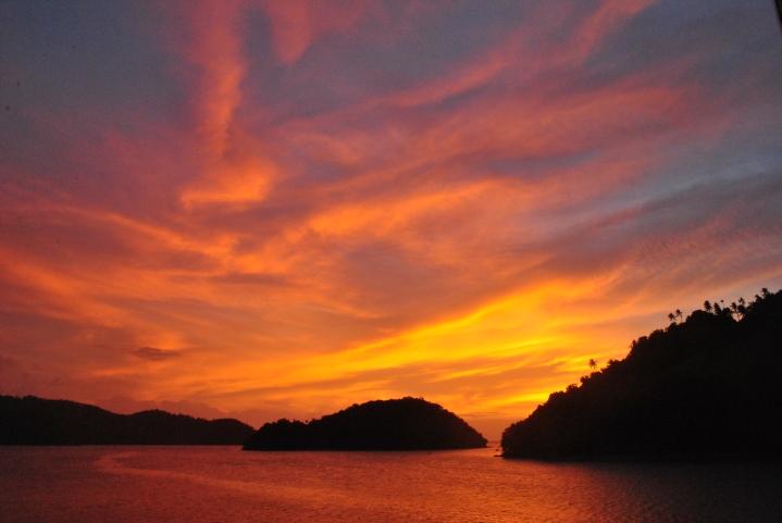 Sundown at the heart of the Philippines. (Marinduque)