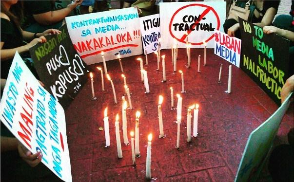 End Contractualization! #IsangKandilaAtDasalParaSaMgaKontraktuwal #BuhayMedia #LabanMedia