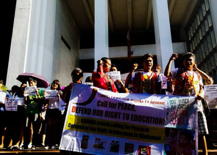 UP community's indignation rally last September 2. (Posted with permission from Philippine Collegian)