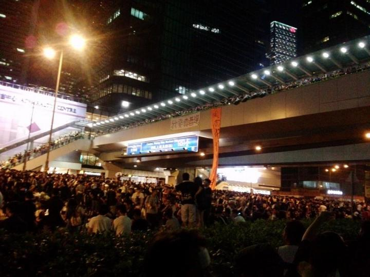 Pro-democracy supporters at the streets of Hong Kong last year (Photo by Prince Wong)