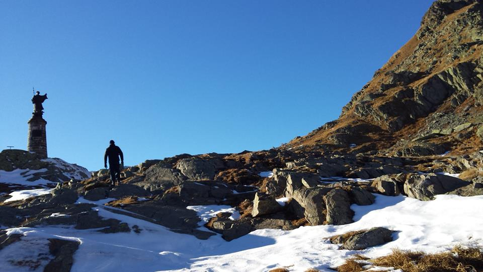 We have crossed the Italian-Swiss border through the Great Saint Bernard Pass.
