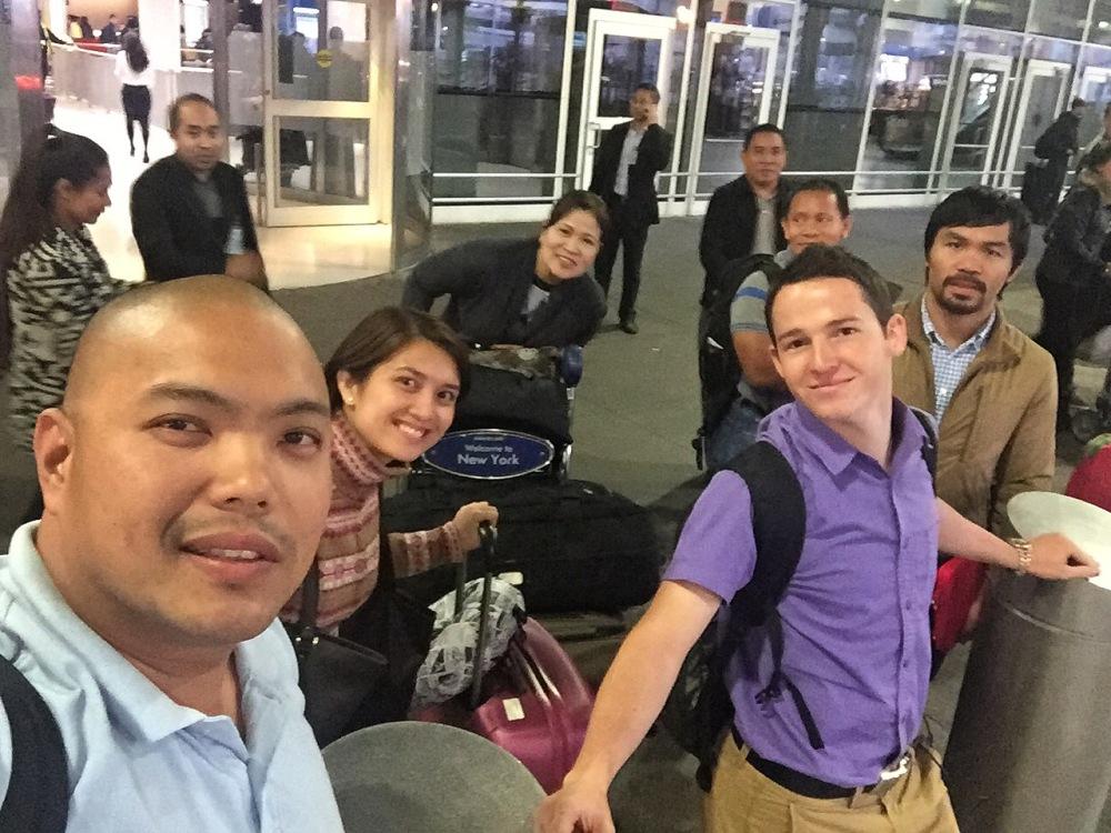 Team Pacquiao at JFK Airport