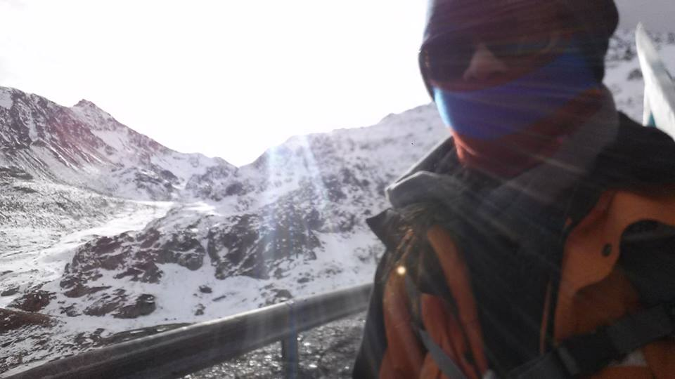 Selfie below zero. It is unusual for brown skinned men and women to walk past the white landscapes of the Great Saint Bernard Pass but we survived the climb up the Italian alps and the descent to Switzerland to show the strength of the Filipino spirit. We were joined in solidarity by fellow climate pilgrims from Hong Kong, UK, Italy, USA, Germany and France.