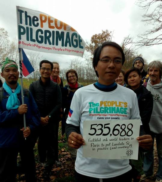 Yeb Saño leads an interfaith, multi-cultural pilgrimage from the Philippines to Paris.