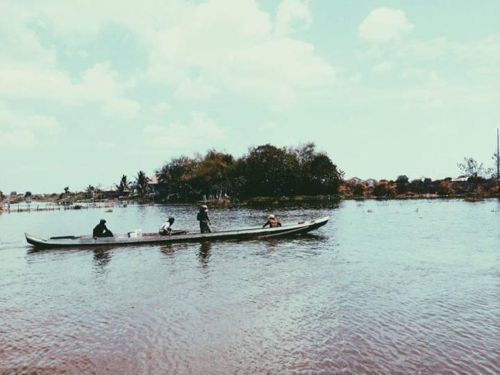 A village submerged in water in Minalin, Pampanga