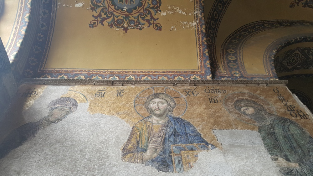 Jesus Christ Pantocrator from a wall mosaic.